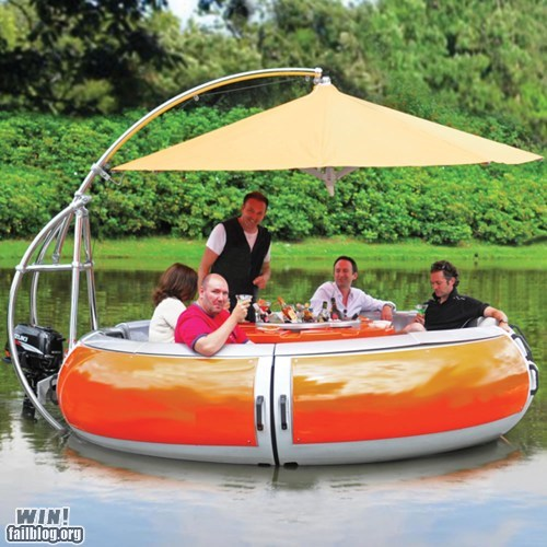 boat dining dinner inner tube sir - 6332511744