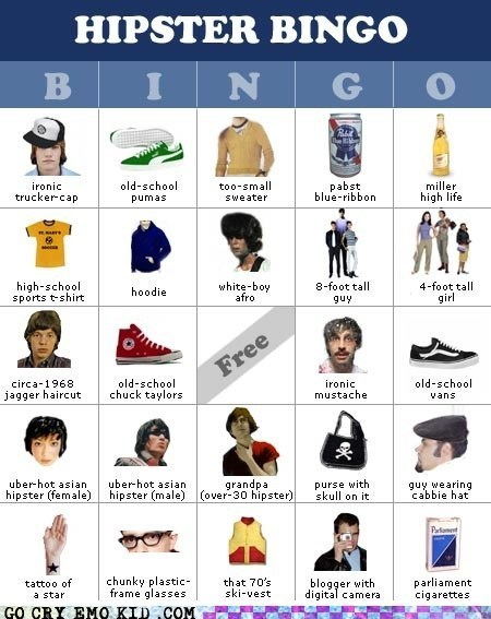 best of week bingo hats hipsterlulz hipsters ironic - 6332664064