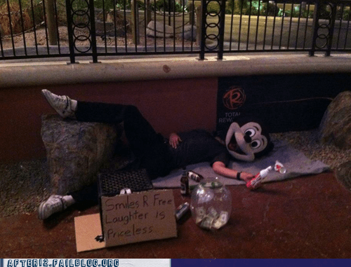 disney mickey mouse passed out - 6332702976