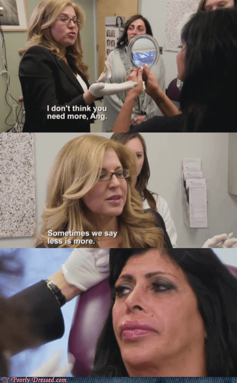 angie mob wives plastic surgery reality television