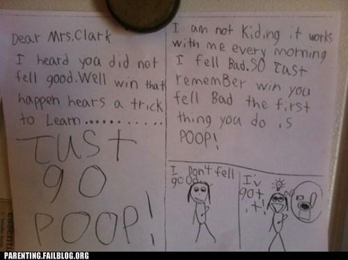 childrens-writing feel better poop teacher - 6332722432