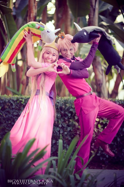 adventure time,cartoons,cosplay,prince gumball,princess bubblegum
