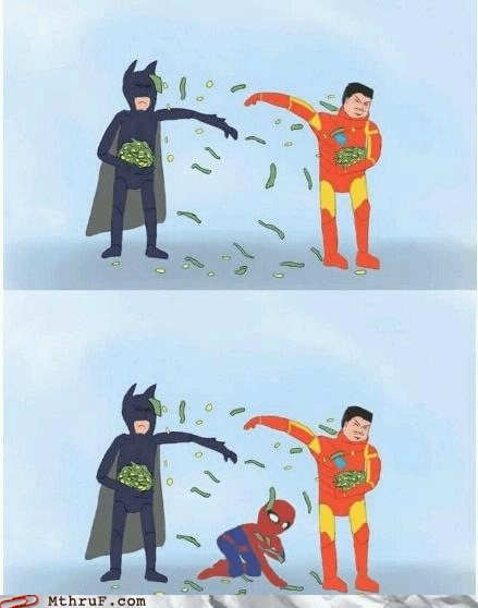 batman bruce wayne DC iron man marvel comics memebase peter parker rich Spider-Man superheroes The Avengers tony stark