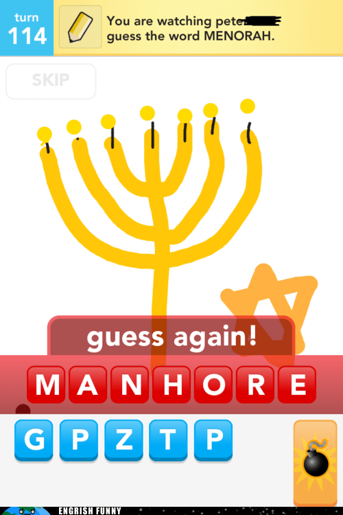 draw something,menorah