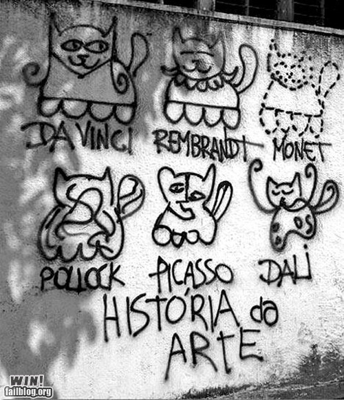 art art history cat Fine Art graffiti hacked irl history Street Art - 6333055744