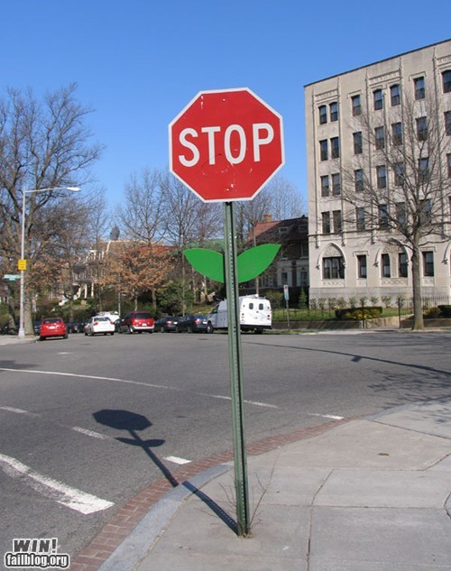 growth hacked irl plant stop sign Street Art - 6333061376