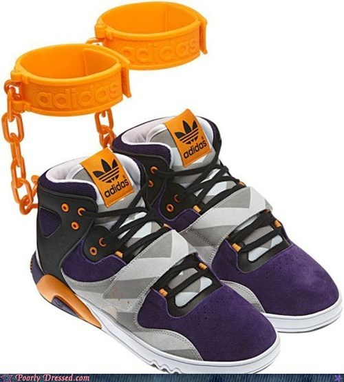adidas chains shackles shoes slavery