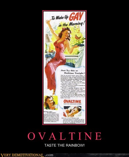 Ad hilarious ovaltine rainbow wtf