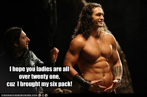 abs,Jason Momoa,ladies,pickup lines,ronan dex,six pack,Stargate