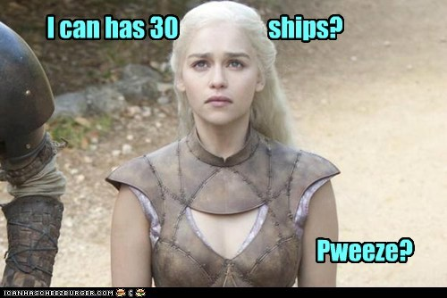 begging cute Daenerys Targaryen Emilia Clarke Game of Thrones i can has puppy face ships - 6333539072