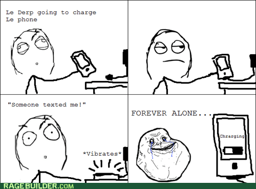 forever alone charging - 6334010880