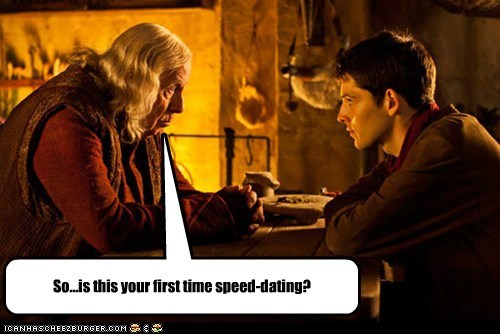 Awkward,colin morgan,first time,merlin,speed dating