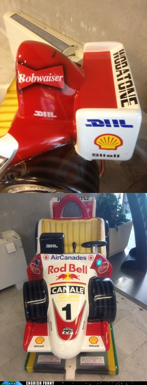bobwaiser budweiser F1 formula 1 kiddie race car kids toy race car red bull rod bell toy car toy race car
