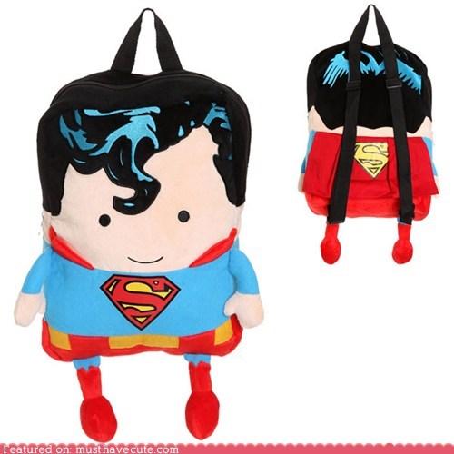 backpack bag cape superman - 6334688512