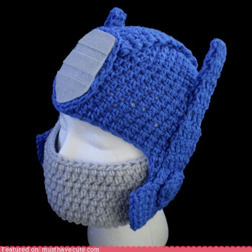 hat,knit,mask,optimus prime,transformers,warm