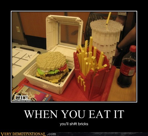 hilarious,lego,lunch,McDonald's