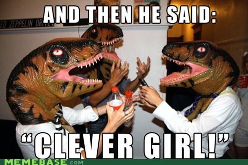 clever girl jurassic park Memes raptors - 6335022592