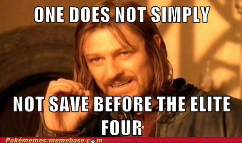 elite four,meme,Memes,one does not simply,revive