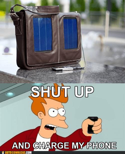 renewable energy shut up and charge my pho shut up and charge my phone solar charger - 6335115008