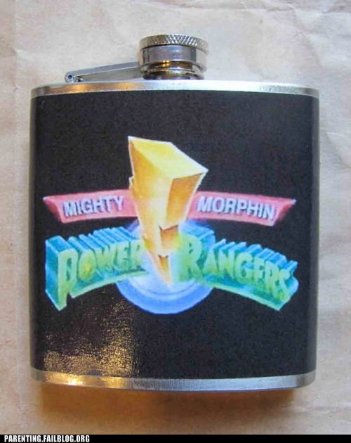 flask,might morpin,power rangers