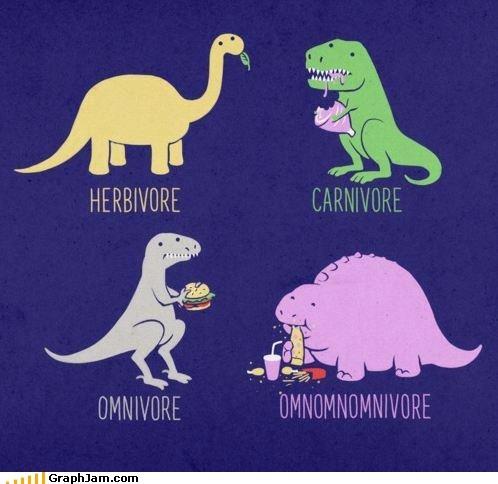 best of week,carnivore,dinosaurs,herbivores,omnomnom