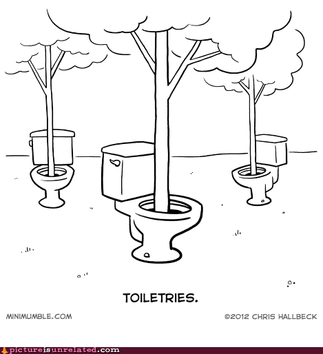 bathroom humor toiletries toliets trees wtf