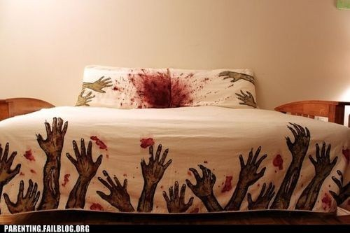bed sheets blood and gore zombie - 6335312896