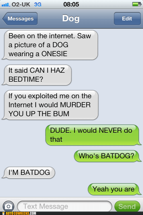 batdog exploiting animals i can haz bedtime texts from dog - 6335384320