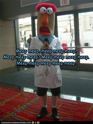 beaker,costume,derp,haikus,muppet