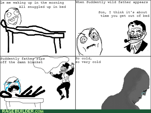 morning Rage Comics troll dad waking up - 6335649024