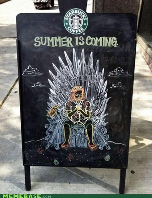 ice IRL Starbucks summer Winter Is Coming zombie - 6335801856