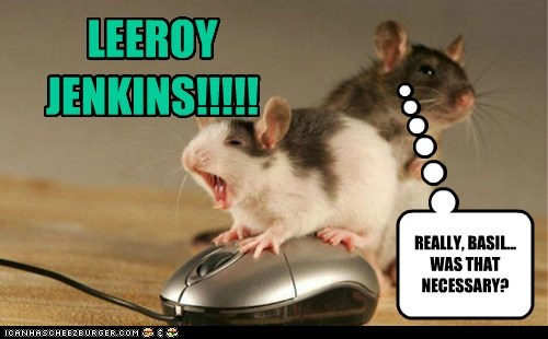 annoying computer mouse leeroy jenkins mice necessary playing video games world of warcraft WoW