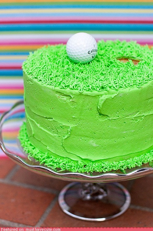 ball cake epicute golf grass green hole - 6335867904