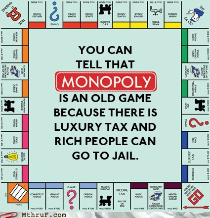 Hall of Fame luxury tax monopoly rich people can go to jai
