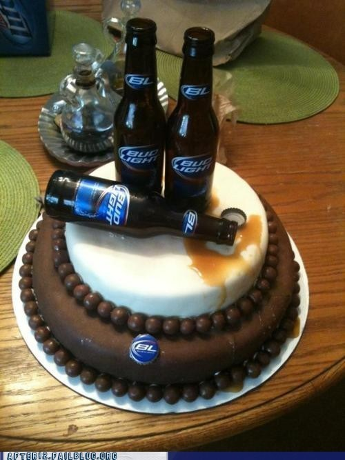 beer bottle,bud light,cake