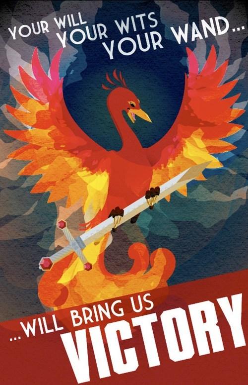 Fan Art Harry Potter phoenix poster - 6336265216