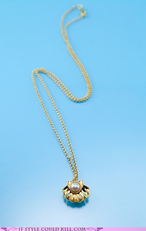 clams cool accessories necklaces pearls - 6336296448