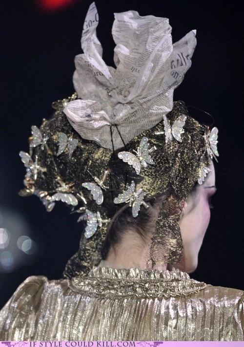 butterflies clips cool accessories hair john galliano runway - 6336311040