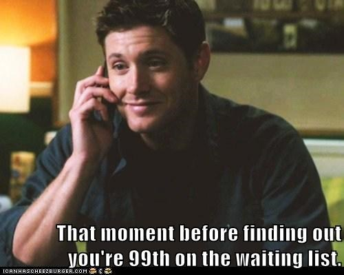 dean winchester forever jensen ackles phone Supernatural waiting - 6336432384