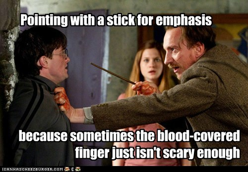 Daniel Radcliffe,david thewlis,emphasis,ginny weasley,harry,Harry Potter,pointing,professor lupin,scary