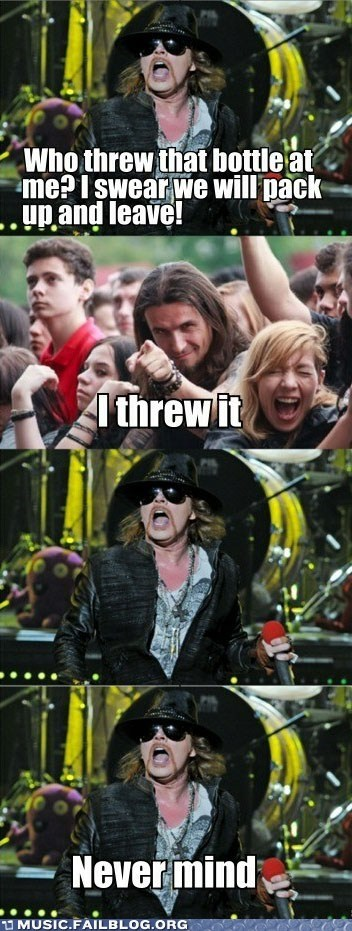 Axl finally approves
