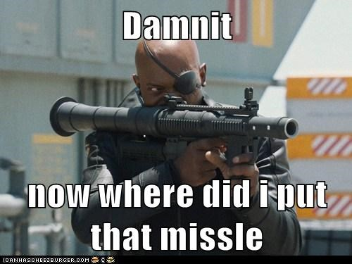avengers,lost,missile,missing,Nick Fury,Samuel L Jackson