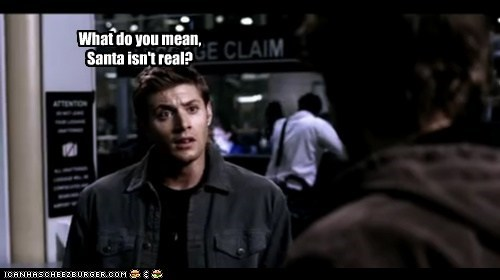 dean winchester jensen ackles real santa Supernatural what do you mean - 6338583552