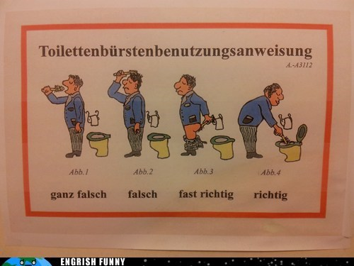 german,Germany,toilet bowl,toilet brush