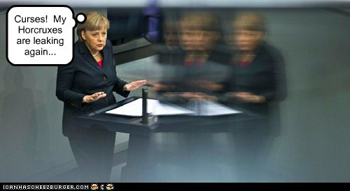 angela merkel curses europe Germany Harry Potter horcruxes leaking - 6339622912