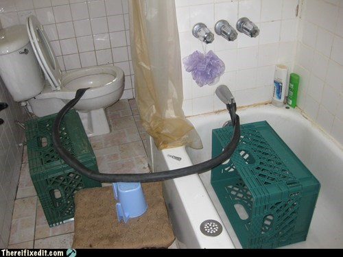 bathroom,bicycle tire,drainage,Drip,faucet,leak,toilet