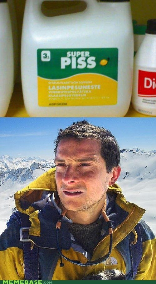 bear grylls,interests,piss,Super