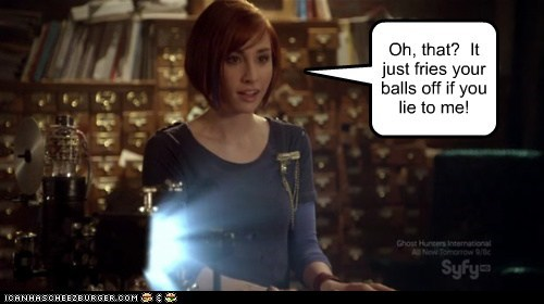 allison scagliotti,artifact,claudia donovan,crazy girl,device,first date,lie,tricky,warehouse 13