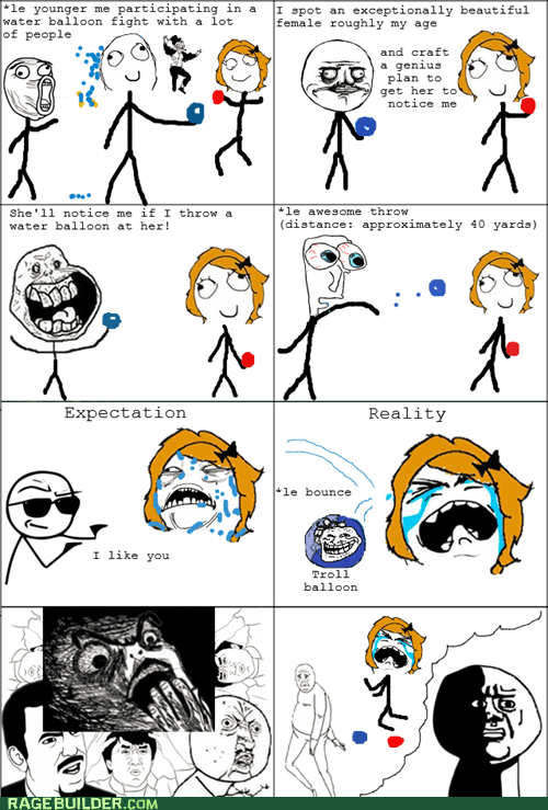 balloon forever alone i lied Rage Comics water balloon - 6340289536