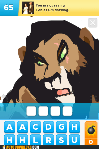 draw something,lion king,scar,showoff